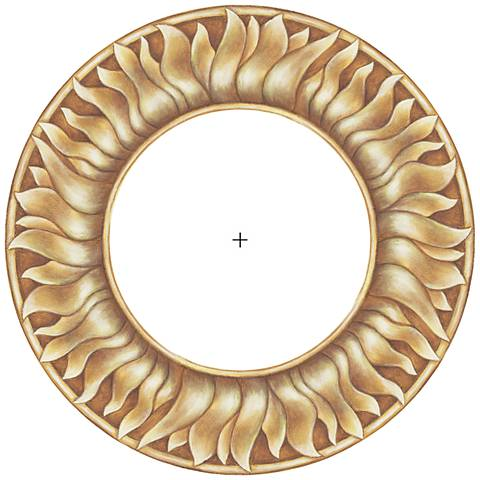 """Florentine Sun 12"""" Wide Recessed Can Ceiling Medallion"""