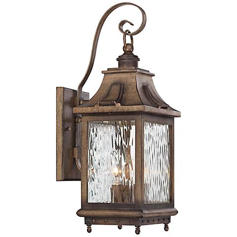 "Wilshire Park 18 1/2"" High Bronze Outdoor Wall Light"