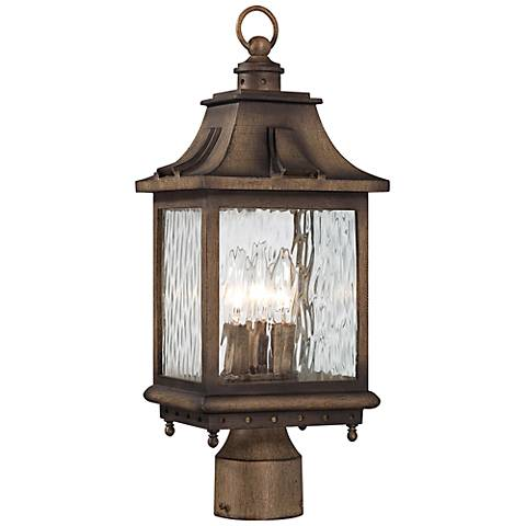 "Wilshire Park 18 3/4"" High Bronze Outdoor Post Light"