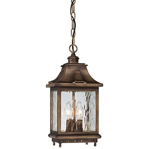 """Wilshire Park 16"""" High Bronze Outdoor Hanging Light"""
