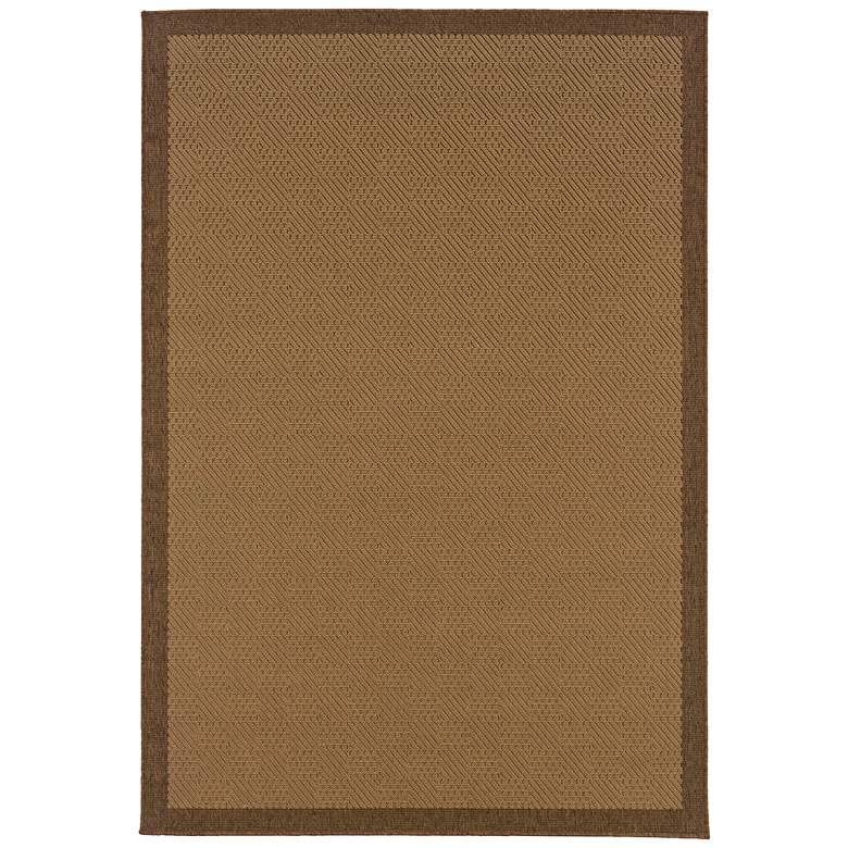"""Lanai 525D7 5'3""""x7'6"""" Beige and Brown Outdoor Area Rug"""