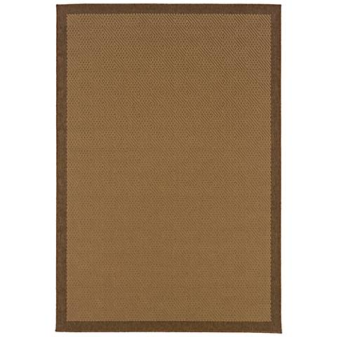 Lanai 525D7 Beige and Brown Outdoor Area Rug