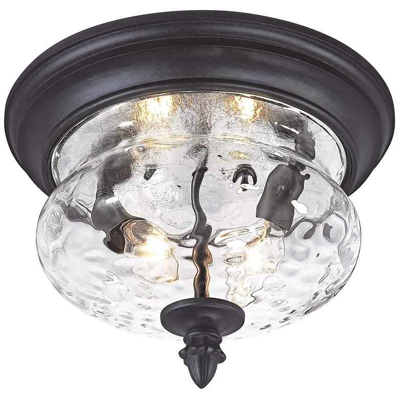 "Ardmore 11 3/4"" Wide Black Outdoor Ceiling Light"