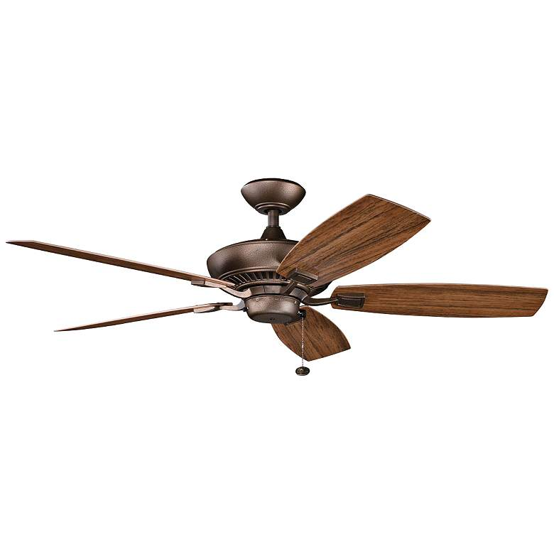 """52"""" Canfield Patio Wet Weathered Copper Ceiling Fan"""