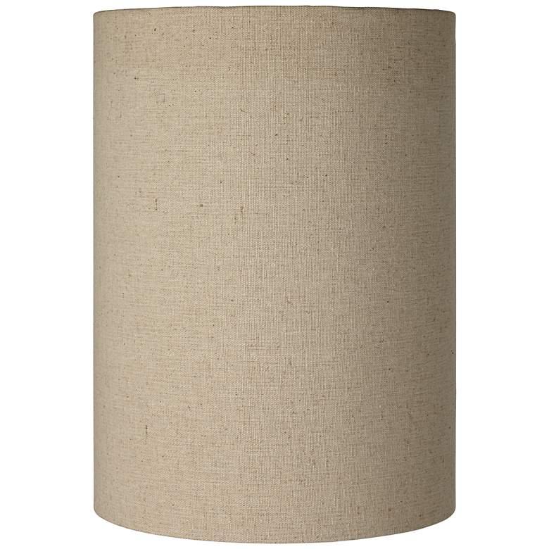 Cotton Blend Tan Cylinder Shade 8x8x11 (Spider)