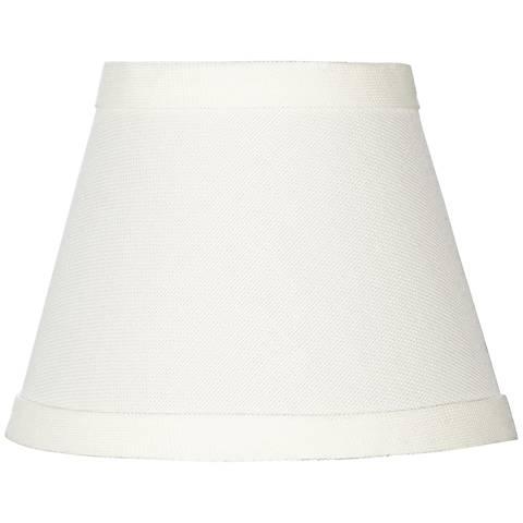 Cream chandelier shade 3x5x4 clip on