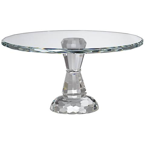"Elin Crystal Pedestal 9 1/4"" Round Cake Stand"