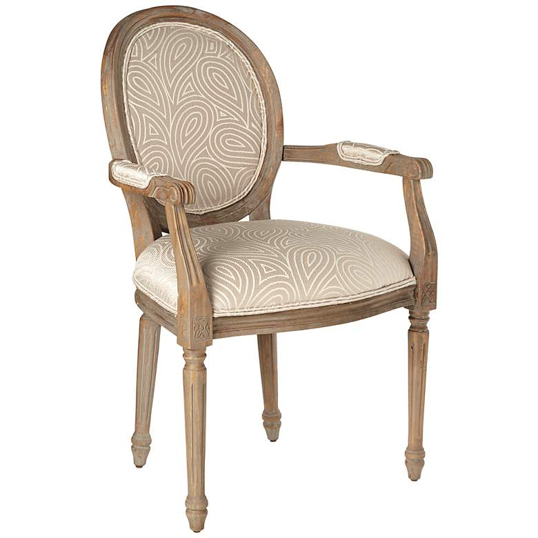 Shimmery Paisley French Accent Chair
