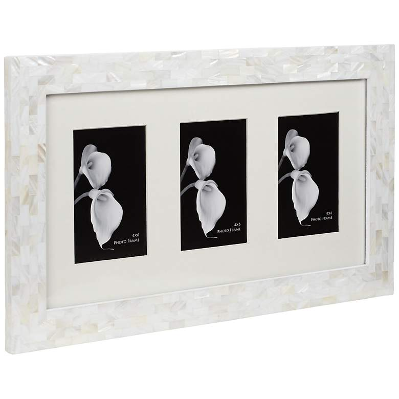 Mother of Pearl 3-Opening Photo Frame