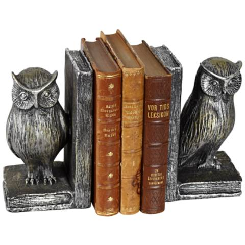 Standing Owl Bookends Set 2p094 Lamps Plus