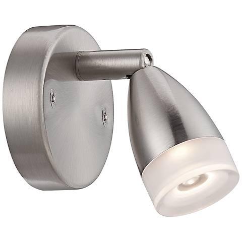 "4 1/2"" Wide Bullet Satin Nickel LED Picture Light"