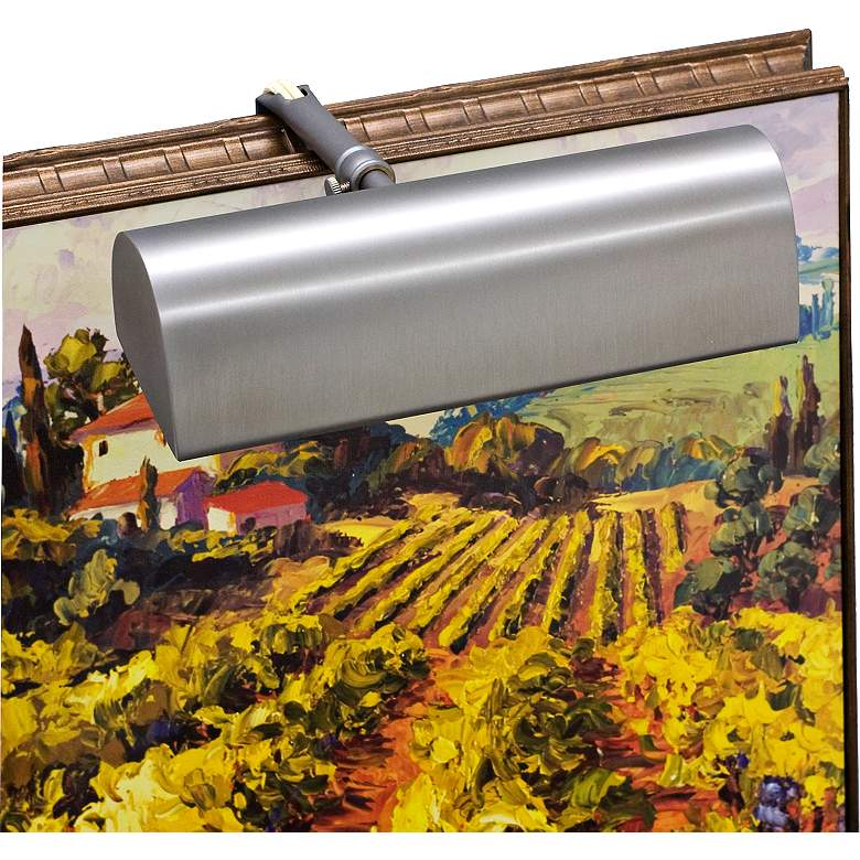 """Traditional 8"""" Wide Pewter Picture Light by House of Troy"""