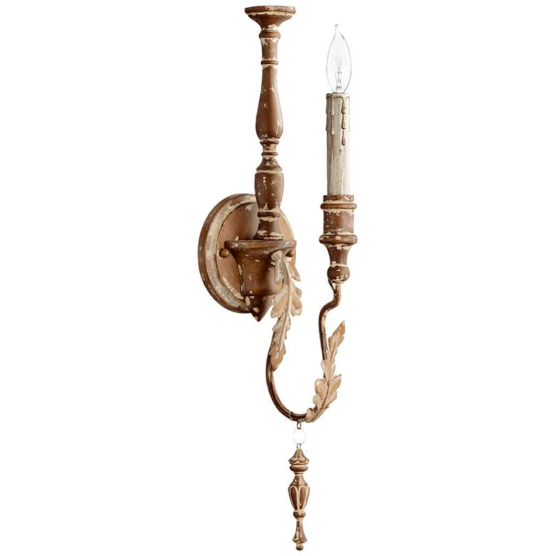 "Quorum Salento Collection 22"" High French Umber Sconce"
