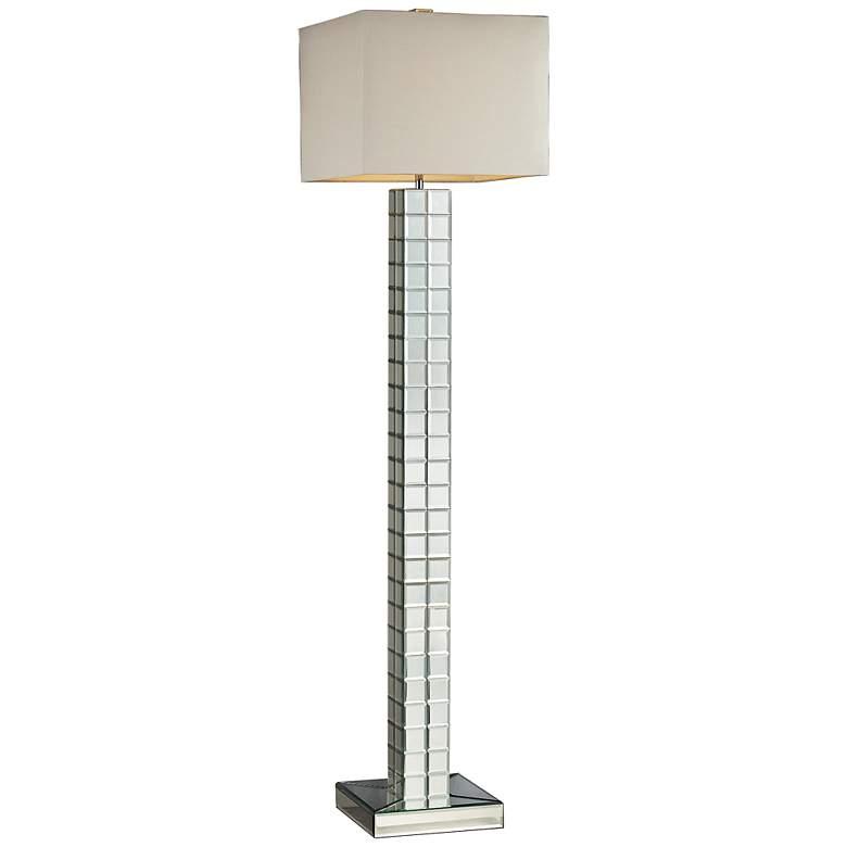 "Luella 63"" High Modern Mirrored Floor Lamp"