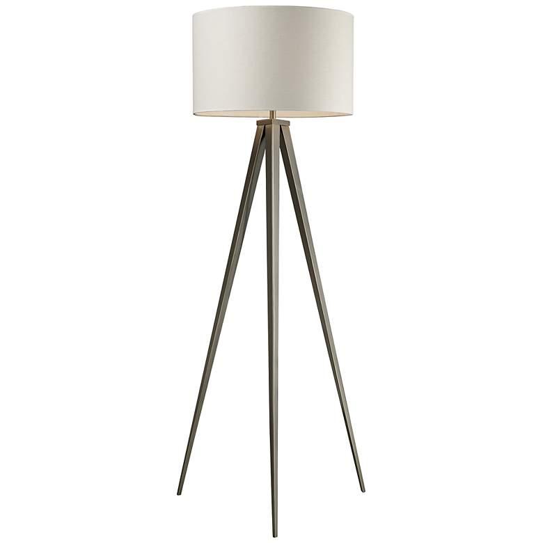 "Salford 61"" High Satin Nickel Tripod Floor Lamp"