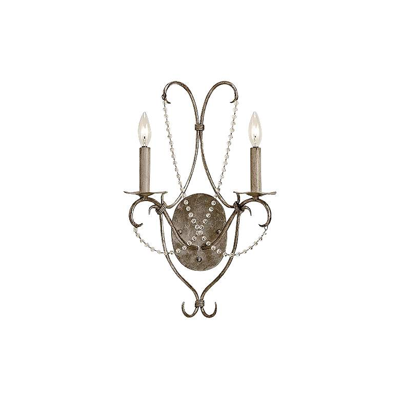 """Currey and Company 22"""" High Crystal Light Wall Sconce"""