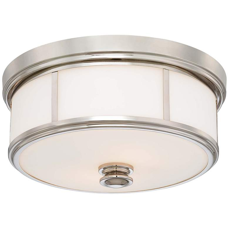 """Harbour Point 13 1/2"""" Wide Polished Nickel Ceiling Light"""