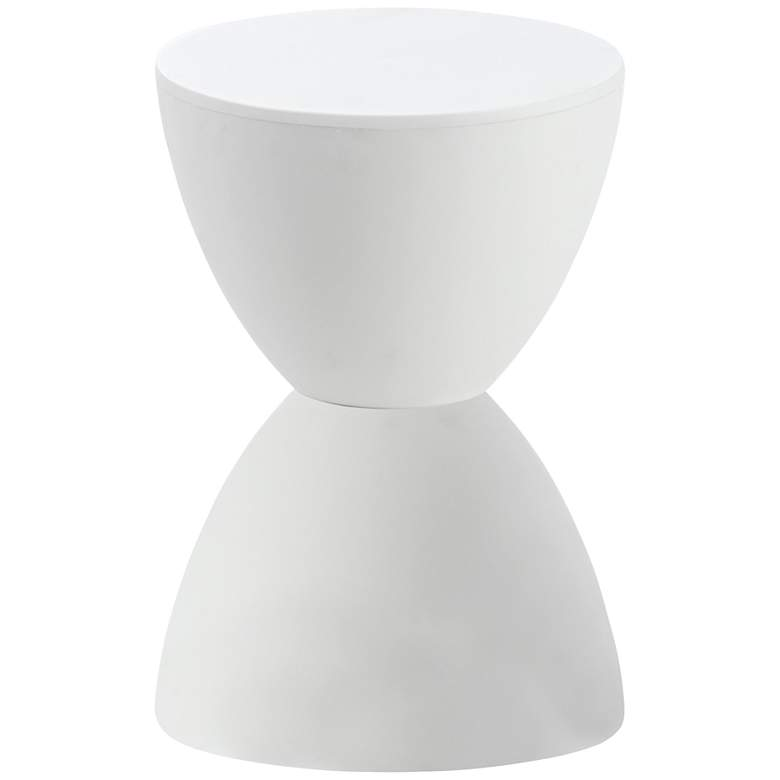 "Sallie 16 3/4"" High White Finish Modern Accent Table"