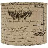 Antique Ledger Fossil Drum Lamp Shade 12x12x10 (Spider)
