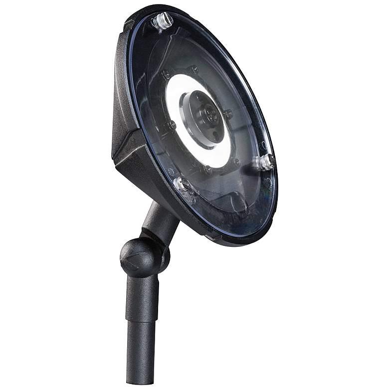 """Kichler 6""""W Hi-Low LED Wall Wash Black Landscape Light"""