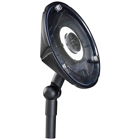 "Kichler 6""W Hi-Low LED Wall Wash Black Landscape Light"