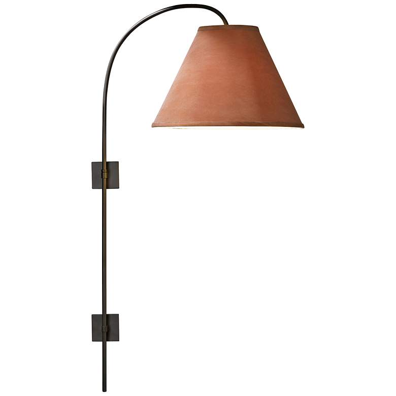 Hubbardton Forge Dark Smoke Arc Plug-In Swing Arm Wall Lamp