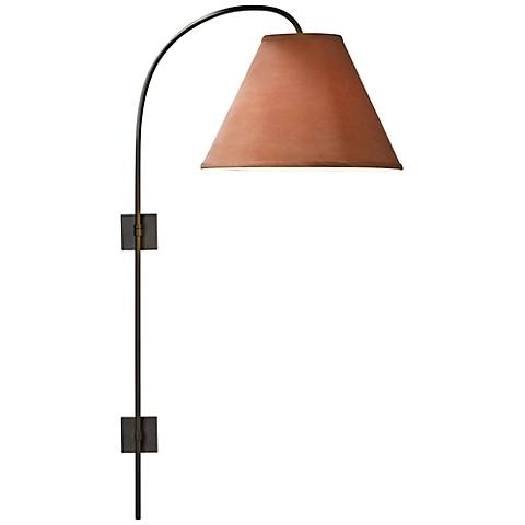Hubbardton Forge Dark Smoke Arc Plug-In Swing Arm Wall Lamp