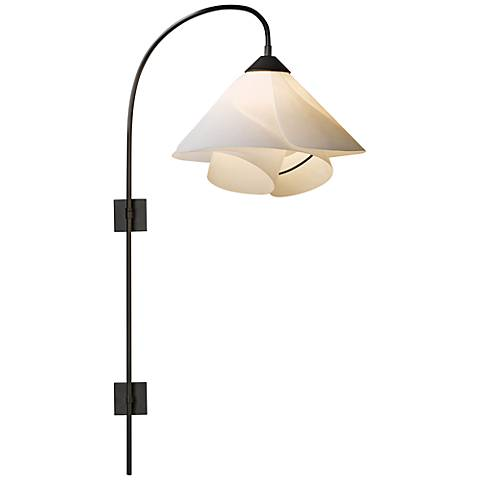 Hubbardton Forge Bronze Pin-Up Swing Arm Wall Lamp