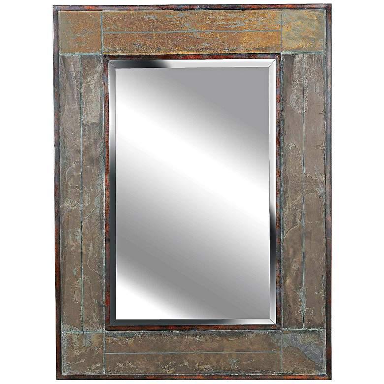 "Kenroy Home Natural Slate 28"" x 38"" Rectangular Wall Mirror"