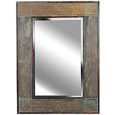 "Kenroy Home White River Slate 38"" High Wall Mirror"