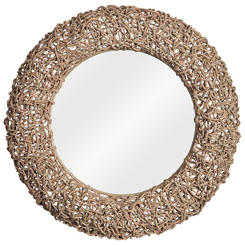 "Kenroy Home Seagrass 33"" Round Rope Wall Mirror"