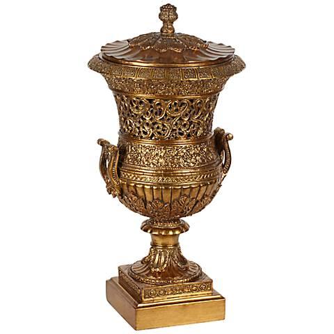 Antique Copper Covered Urn