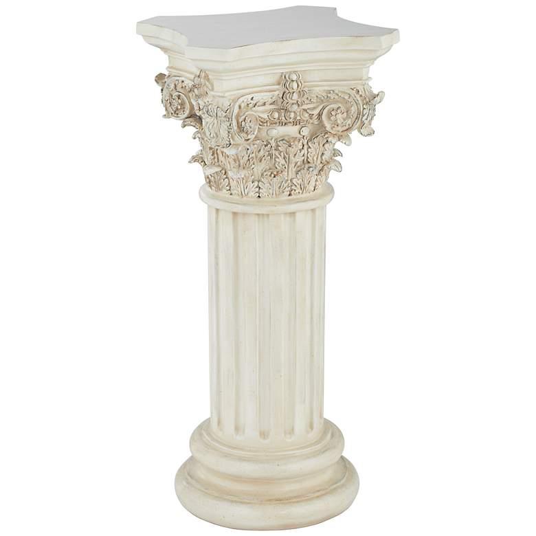 Corinthian Style Ivory Floor Column