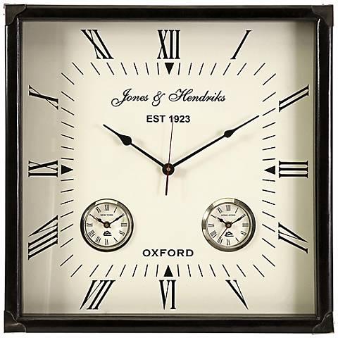 "Worldtimer 21"" Square Wall Clock"