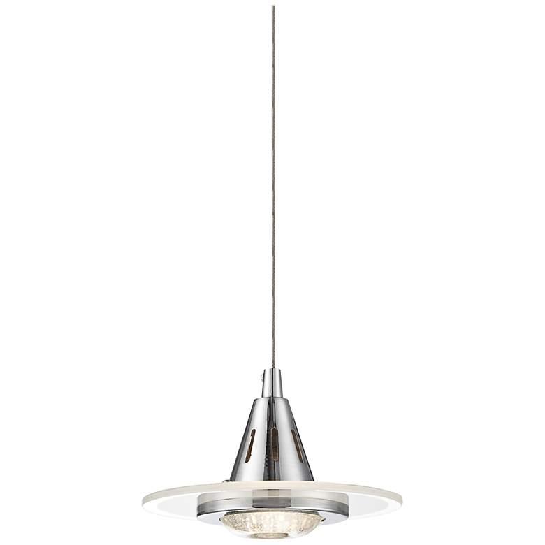 """Possini Euro Menos 6 1/4"""" Wide Chrome LED Mini Pendant Light"""
