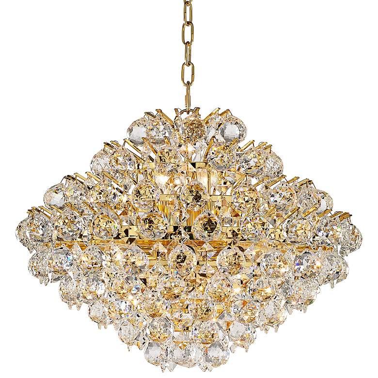 "Vienna Full Spectrum Essa 20"" Wide Gold - Crystal Pendant"