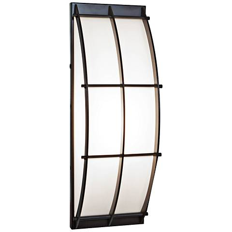 Access Tyro Collection Bronze Curved Outdoor Sconce