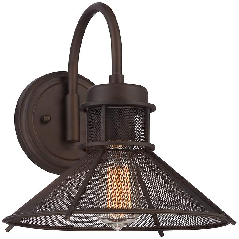 """Glasgow Industrial 11 3/4"""" High Bronze Wall Sconce"""