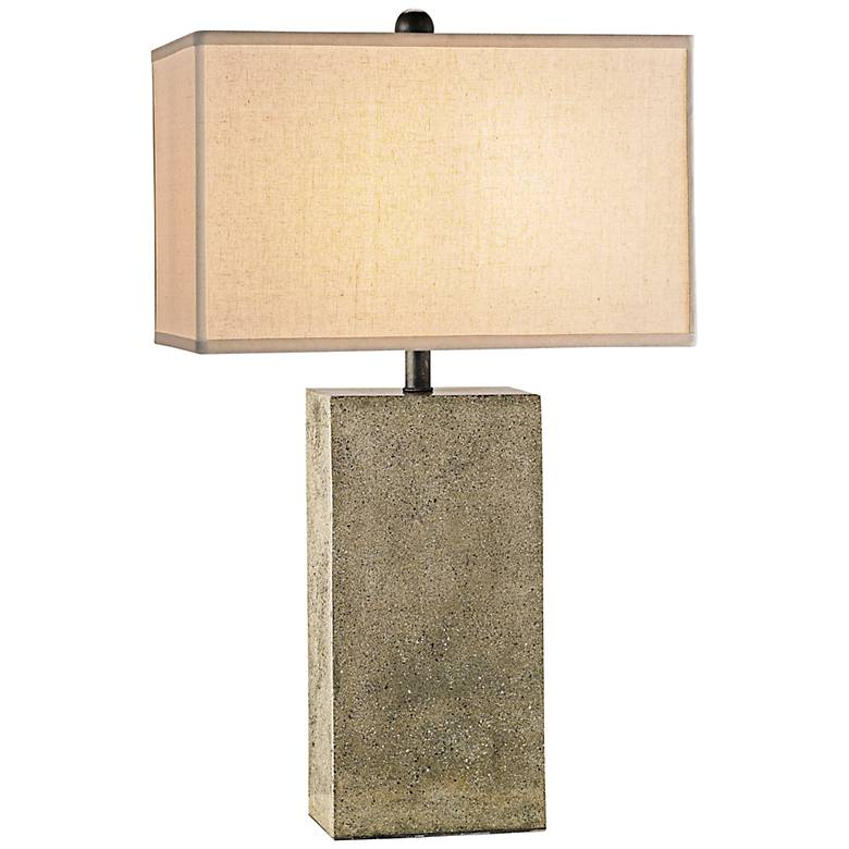 Currey and Company Symbol Polished Concrete Table Lamp