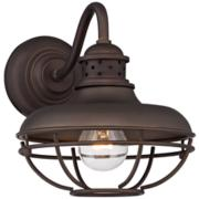 "Franklin Park Metal Cage 9"" High Bronze Outdoor Wall Light"