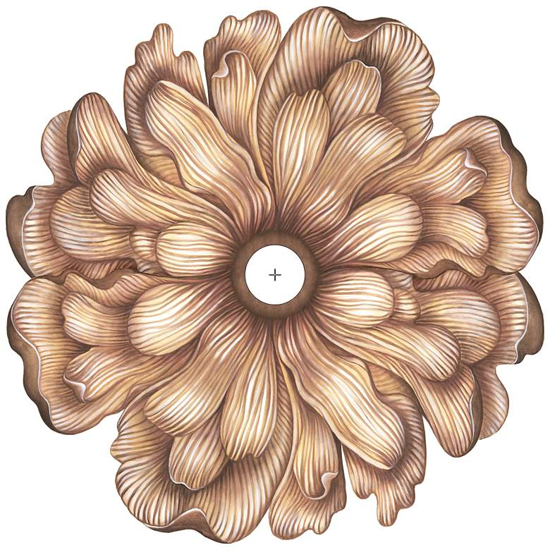 "Flower Bloom 36"" Wide Repositionable Ceiling Medallion"