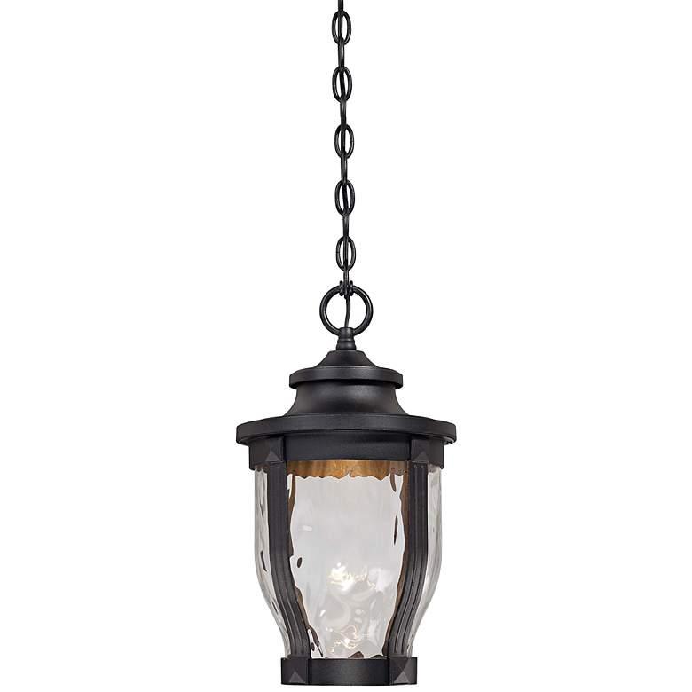 """Merrimack 17 1/2"""" High Black LED Hanging Outdoor Light"""