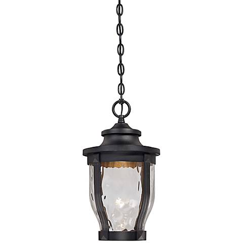"Merrimack 17 1/2"" High Black LED Hanging Outdoor Light"