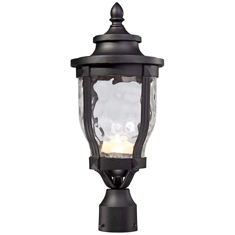 "Merrimack 19 1/4"" High Black LED Outdoor Post Light"