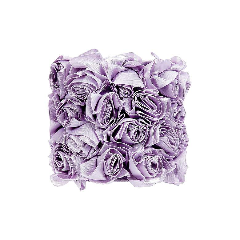 Lavender Rosettes Drum Lamp Shade 5x5x4.75 (Clip-On)