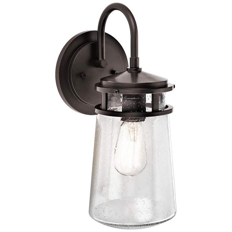 "Kichler Lyndon 15"" High Seedy Glass Outdoor Wall Light"