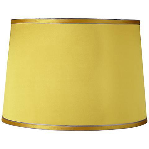 Sydnee Satin Yellow Drum Lamp Shade 14x16x11 (Spider)