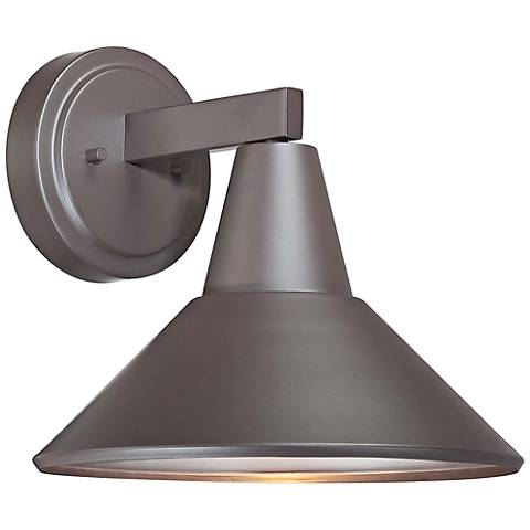 "Bay Crest 10 1/2"" High Dorian Bronze Outdoor Wall Light"