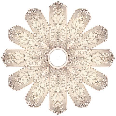 "Verona Mist 26"" Wide Repositionable Ceiling Medallion"