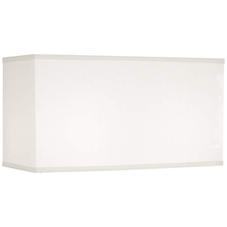 2V705 - White Linen Rectangular Lamp Shade